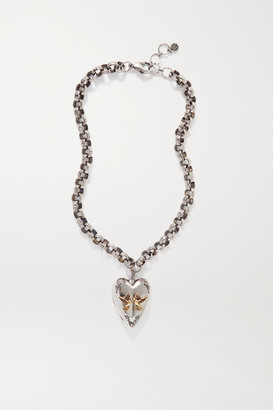 Alexander McQueen Silver- And Gold-tone Necklace - one size