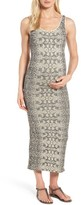 Tees by Tina Women's Snake Print Maternity Maxi Dress