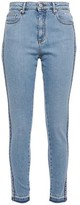 MSGM Logo-embellished High-rise Skinny Jeans