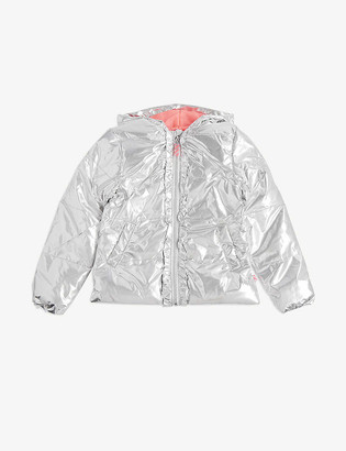 Billieblush Metallic puffer jacket 4-12 years