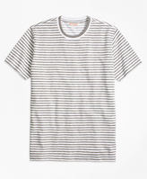Brooks Brothers Heathered Stripe Tee Shirt