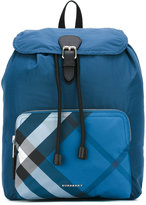 Burberry packable check detail backpack - men - Leather/Nylon - One Size