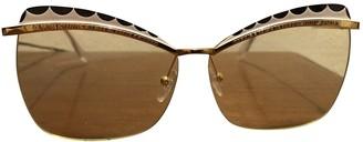 Alexander McQueen Yellow Metal Sunglasses