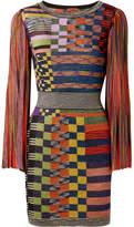 Missoni Metallic Stretch-knit Mini Dress - Orange