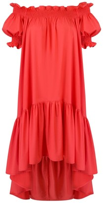 Monica Nera Lori Coral Cotton Dress