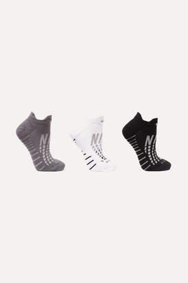 Nike Everyday Max Cushion Set Of Three Dri-fit Stretch-knit Socks - White