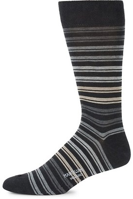 Marcoliani Milano Mid-Calf Double Stripes Cotton Socks