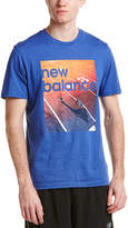 New Balance Heather Tech Short Sleeve Run Graphic Top