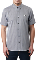Pretty Green Short Sleeve Glendale Gingham Shirt, Navy