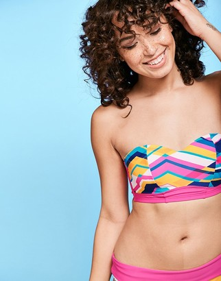 Figleaves Bondi Beach Underwired Bandeau Bikini Top D-GG cup