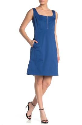 Lafayette 148 New York Amoya Zip Detailed Dress