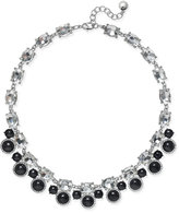 Charter Club Silver-Tone Jet Stone Crystal Statement Necklace, Only at Macy's