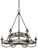 Quoizel Lighting CTH5009AN Castle Hill - Nine Light Extra Large 2-Tier Foyer, Finish