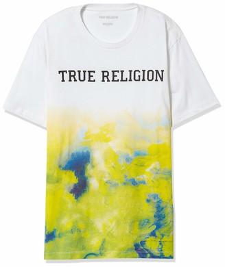 True Religion Men's Tie Dye Gradient Short Sleeve Crewneck Tee