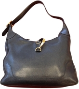 Hermes Black Leather Handbag