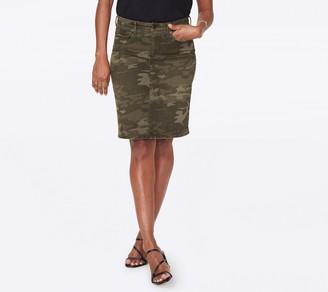 NYDJ Five-Pocket Denim Skirt