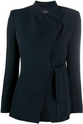Emporio Armani Side-Tie Tailored Jacket