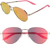 Nike Ascendant 57mm Mirrored Aviator Sunglasses