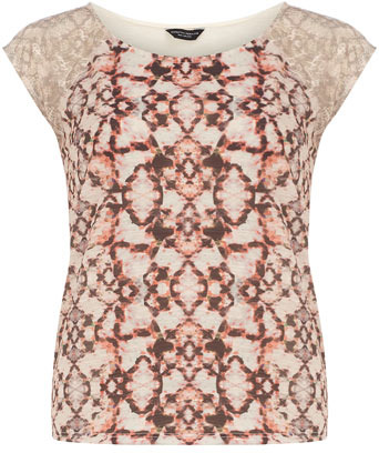 Dorothy Perkins Snake lace print tee