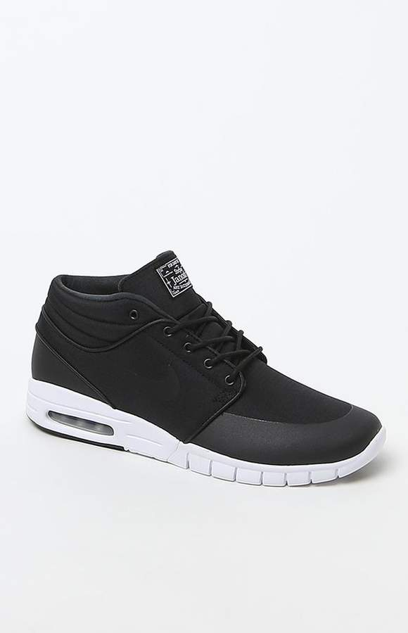 more photos sneakers official images Nike SB Stefan Janoski Max Mid Black & White Shoes