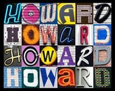 Sign Your Name HOWARD Personalized Name Poster Using SIGN LETTERS (Large)