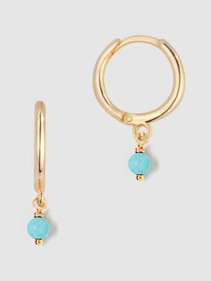 Tess + Tricia Small Turquoise Huggie Earrings