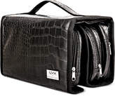 NYX Professional Makeup Black Croc-Embossed Deluxe Makeup Bag