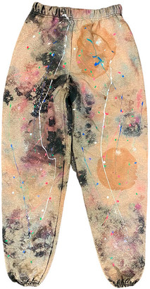 Singer22 Ooak22 Paint Splattered And Bleached Sweatpants