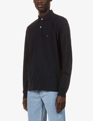 Tommy Hilfiger Logo-embroidered cotton-jersey polo top
