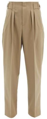 MAISON KITSUNÉ Pleated Twill Wide-leg Trousers - Khaki