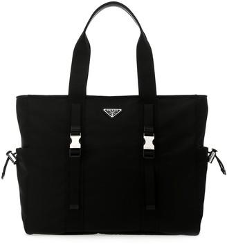 Prada Front Buckle Tote Bag