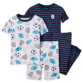 Carter's Size 12M 4-Piece Sports Pajama Set in Blue