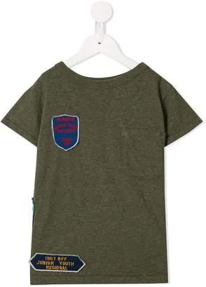 Denim Dungaree appliqué patch T-shirt
