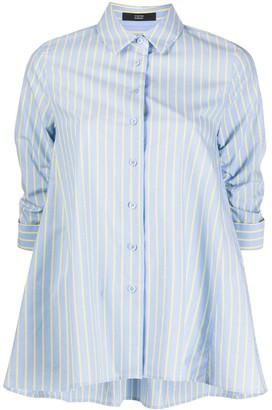 Steffen Schraut Striped Ruched-Sleeves Shirt