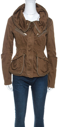Marc by Marc Jacobs Brown Cotton Zip Front Jacket XS