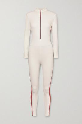 Vaara Selene Thermal Striped Stretch Bodysuit - Cream