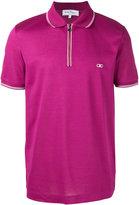 Salvatore Ferragamo zip polo shirt - men - Cotton - S