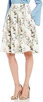 Lucy Paris Jardin A-Line Floral Print Skirt