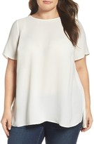 Daniel Rainn Plus Size Women's Pleat Back Blouse