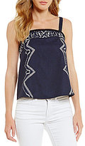 Gianni Bini Summer Embroidered Blouse