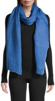 Thumbnail for your product : Eileen Fisher Organic Linen Pintucked Scarf