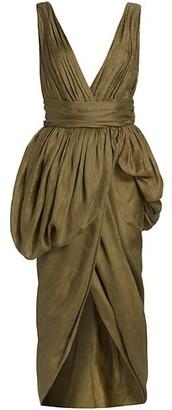 Altuzarra Canna Linen & Silk Wrap Dress