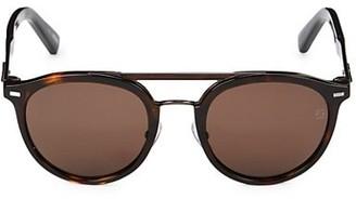 Ermenegildo Zegna 50MM Faux Tortoiseshell Round Sunglasses