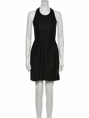 Chloé Crew Neck Mini Dress Black