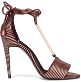 Pierre Hardy Blondie Metallic Striped Leather Sandals - Bronze