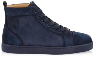 Christian Louboutin Louis Orlato Suede Mid-Top Sneakers