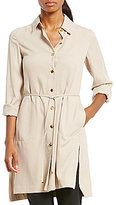 Calvin Klein Texture Weave Soft Suiting Long Shirt Jacket