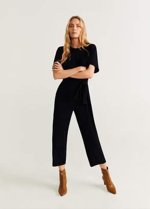 MANGO Knot jumpsuit black - XS - Women