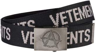 Vetements Anarchy Buckle Logo Belt