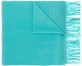 Moschino logo fringed scarf